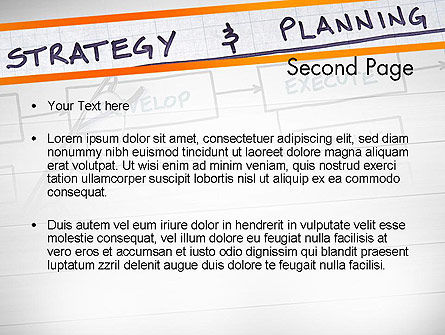 Strategy and Planning Flowchart Theme PowerPoint Template Slide 2