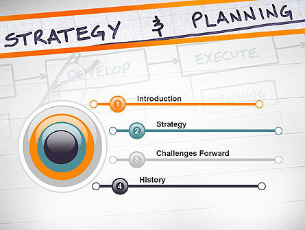 Strategy and Planning Flowchart Theme PowerPoint Template Slide 3