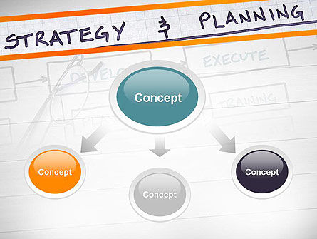 Strategy and Planning Flowchart Theme PowerPoint Template, Slide 4, 11742, Business — PoweredTemplate.com