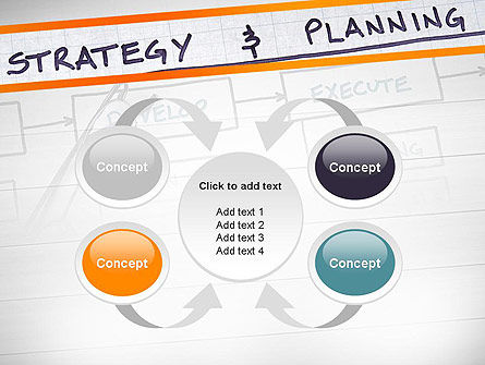 Strategy and Planning Flowchart Theme PowerPoint Template Slide 6