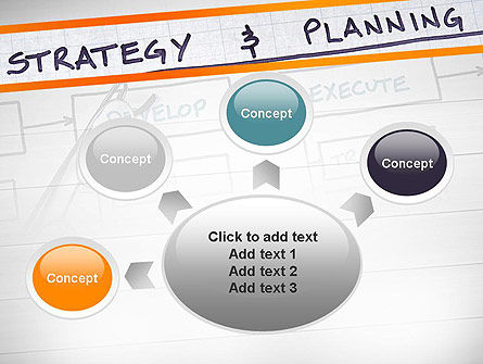 Strategy and Planning Flowchart Theme PowerPoint Template Slide 7