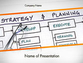 Business: Strategie En Planning Stroomdiagram Thema PowerPoint Template #11742