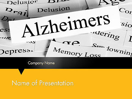 Alzheimer's Disease PowerPoint Template, 11744, Medical — PoweredTemplate.com