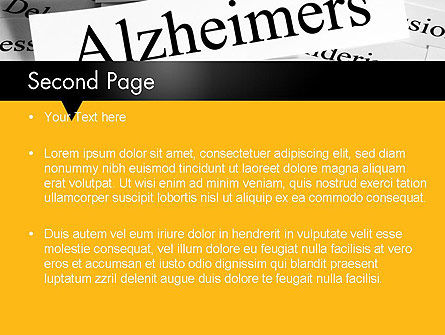 Alzheimer's Disease PowerPoint Template, Slide 2, 11744, Medical — PoweredTemplate.com