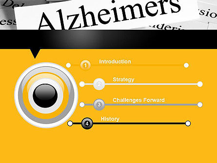 Alzheimer's Disease PowerPoint Template, Slide 3, 11744, Medical — PoweredTemplate.com