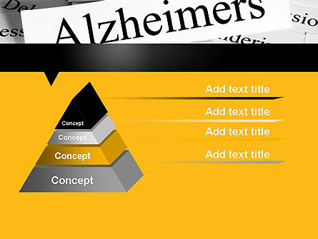 Alzheimer's Disease PowerPoint Template, Slide 4, 11744, Medical — PoweredTemplate.com