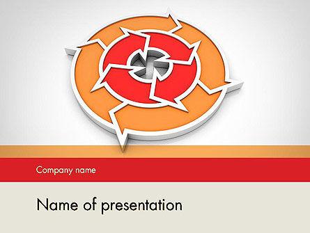 Circular Flow Diagram PowerPoint Template, 11745, Business — PoweredTemplate.com