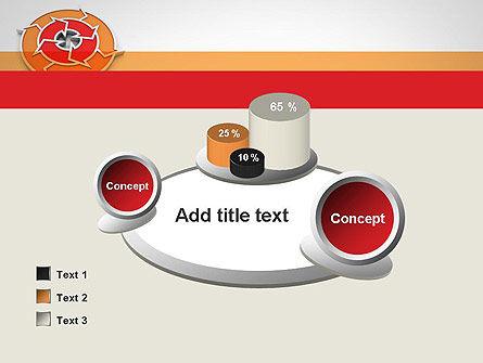 Circular Flow Diagram PowerPoint Template Slide 16