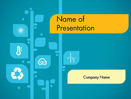 Ecology Tree PowerPoint Template, 11746, Nature & Environment — PoweredTemplate.com