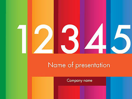 Colorful Numbers PowerPoint Template, 11748, Education & Training — PoweredTemplate.com