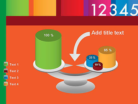 Colorful Numbers PowerPoint Template Slide 10