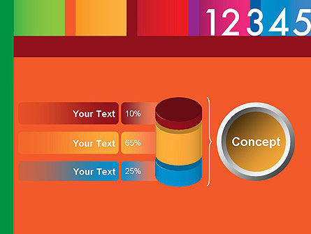 Colorful Numbers PowerPoint Template Slide 11
