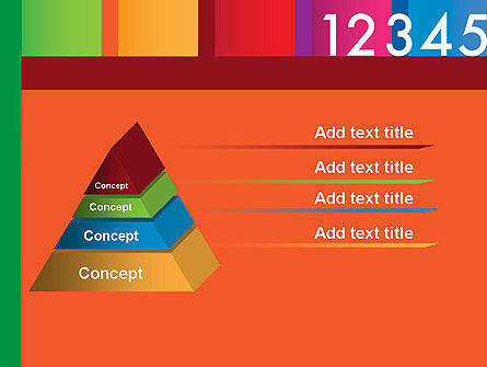 Colorful Numbers PowerPoint Template Slide 12