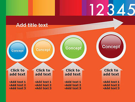 Colorful Numbers PowerPoint Template Slide 13