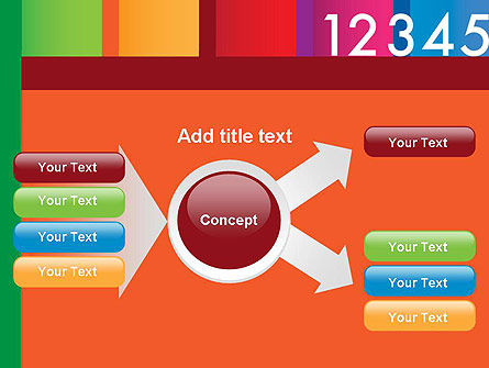 Colorful Numbers PowerPoint Template Slide 14