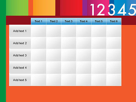 Colorful Numbers PowerPoint Template Slide 15