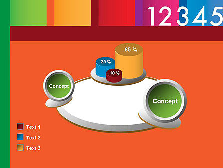 Colorful Numbers PowerPoint Template Slide 16