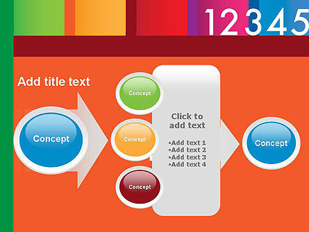 Colorful Numbers PowerPoint Template Slide 17