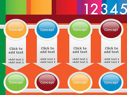 Colorful Numbers PowerPoint Template Slide 18