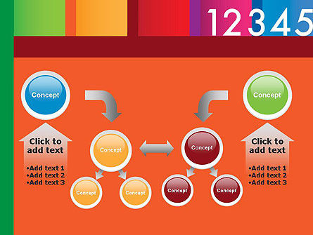 Colorful Numbers PowerPoint Template Slide 19