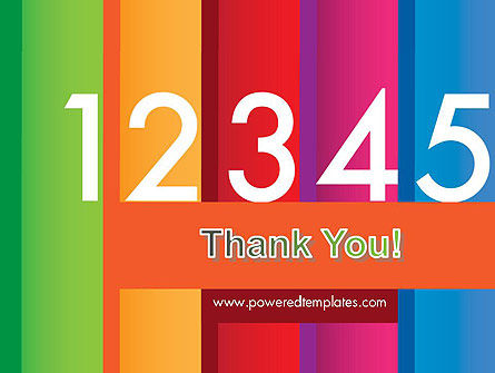 Colorful Numbers PowerPoint Template Slide 20
