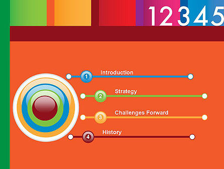 Colorful Numbers PowerPoint Template, Slide 3, 11748, Education & Training — PoweredTemplate.com