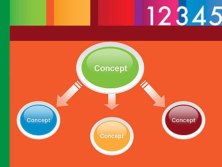 Colorful Numbers PowerPoint Template, Slide 4, 11748, Education & Training — PoweredTemplate.com
