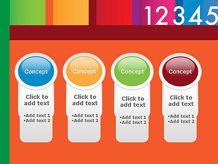 Colorful Numbers PowerPoint Template Slide 5
