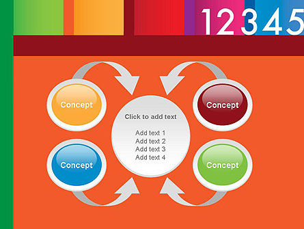 Colorful Numbers PowerPoint Template Slide 6