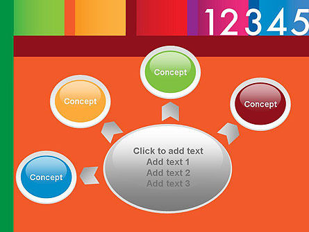 Colorful Numbers PowerPoint Template Slide 7