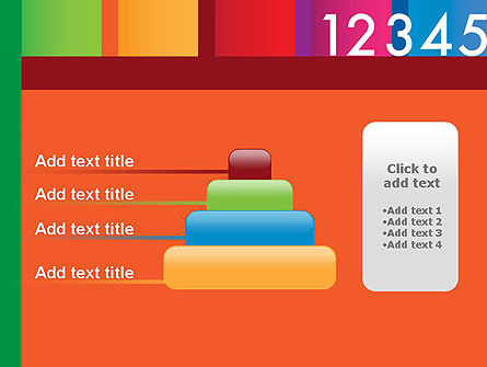 Colorful Numbers PowerPoint Template Slide 8