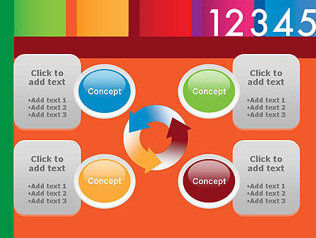 Colorful Numbers PowerPoint Template Slide 9