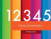 Education & Training: Colorful Numbers PowerPoint Template #11748