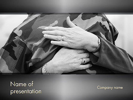 Veterans and Their Families PowerPoint Template