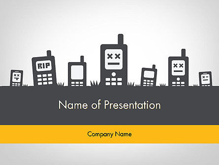 Mobiles Silhouettes PowerPoint Template, 11752, Telecommunication — PoweredTemplate.com
