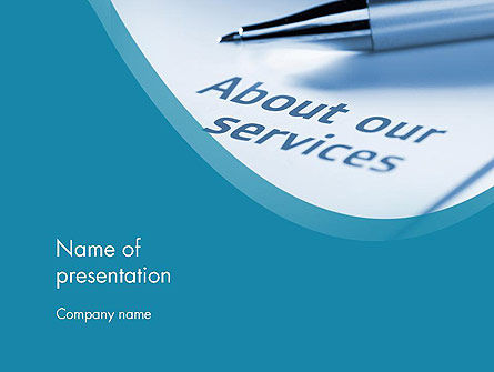 Business Concepts: Our Services PowerPoint Template #11755