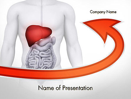 Modelo do PowerPoint - hepatite, 11756, Medical — PoweredTemplate.com