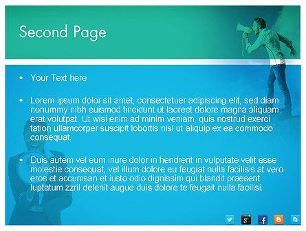 PR Company Presentation PowerPoint Template Slide 2