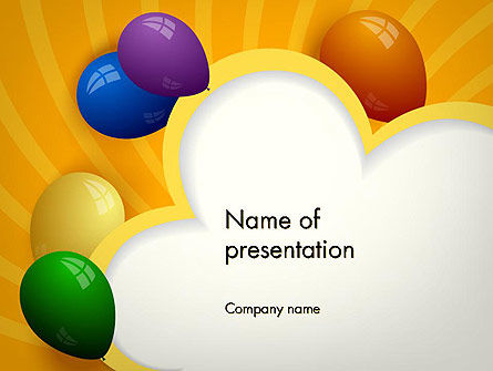 Colored Balloons PowerPoint Template