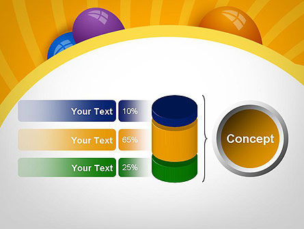 Colored Balloons PowerPoint Template Slide 11