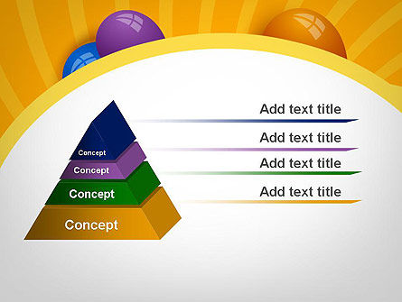 Colored Balloons PowerPoint Template Slide 12