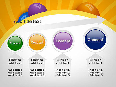 Colored Balloons PowerPoint Template Slide 13
