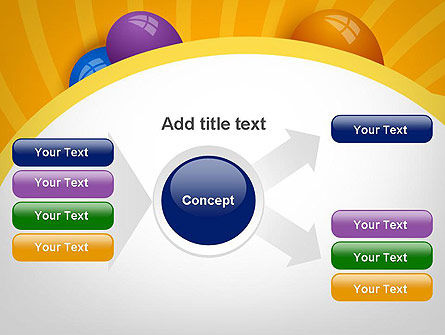 Colored Balloons PowerPoint Template Slide 14
