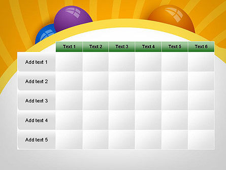 Colored Balloons PowerPoint Template Slide 15