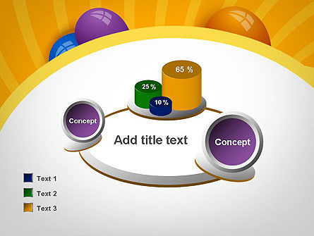 Colored Balloons PowerPoint Template Slide 16