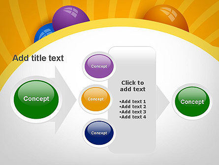 Colored Balloons PowerPoint Template Slide 17