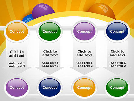 Colored Balloons PowerPoint Template Slide 18