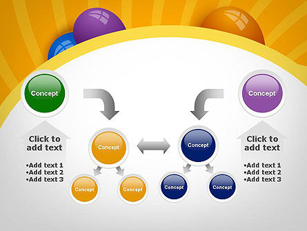 Colored Balloons PowerPoint Template Slide 19