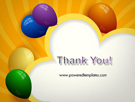 Colored Balloons PowerPoint Template Slide 20