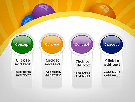 Colored Balloons PowerPoint Template Slide 5